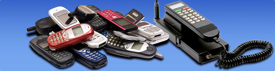 Darstellung mehrer Handys aus verschiedenen Generationen